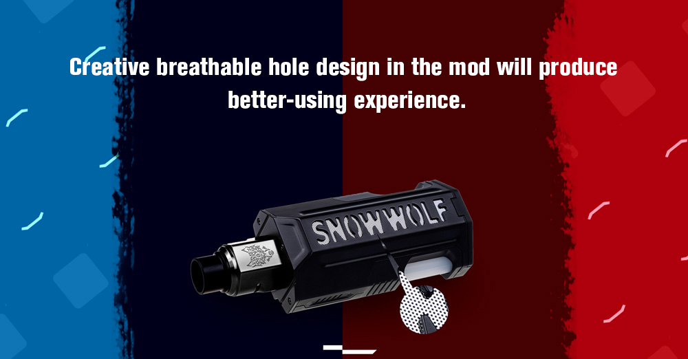 SnowWolf Vfeng Squonk 120W Starter Kit with 200 - 570F / 0.05 - 3 ohm / Supporting 1pc 18650 / 20700 / 21700 Battery for E Cigarette