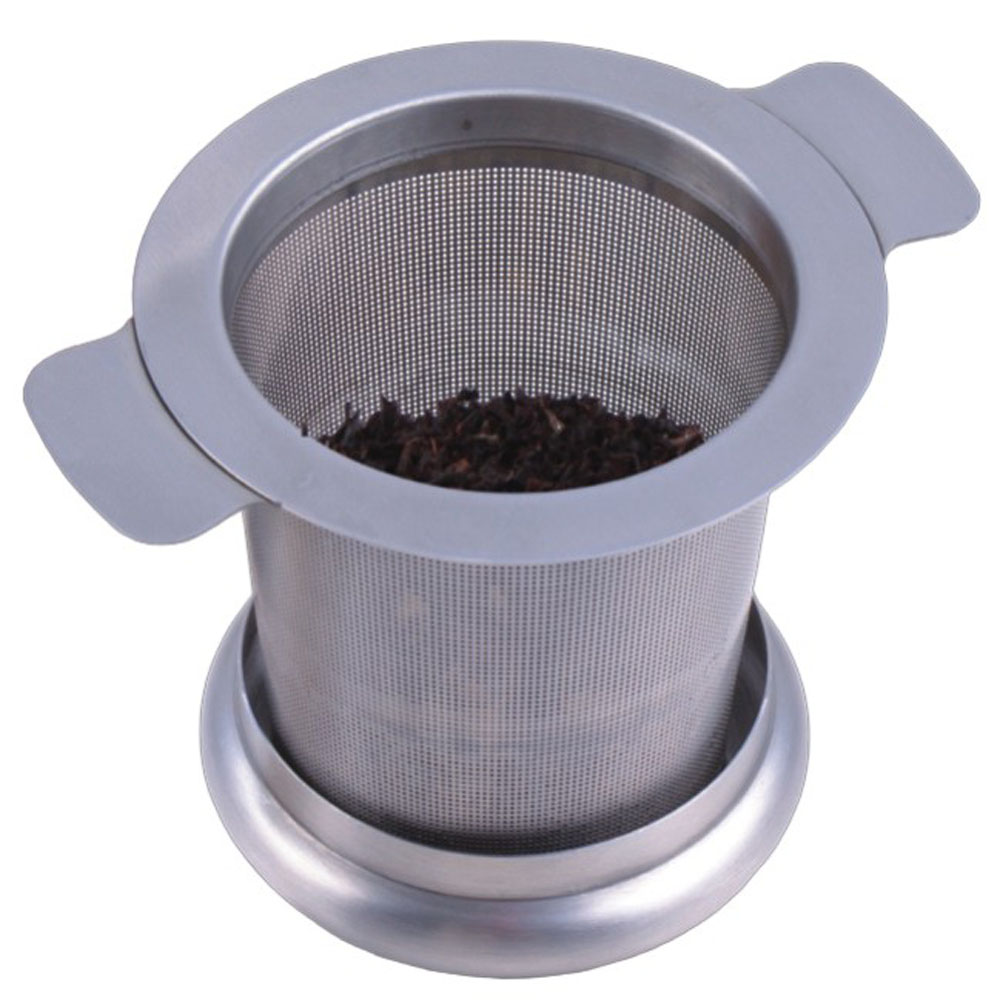 Stainless Steel Loose Leaf Tea Strainer Set of 2 Hanging Robot Tea Filter with Drip Tray Tea Infuser Gold /& Silver