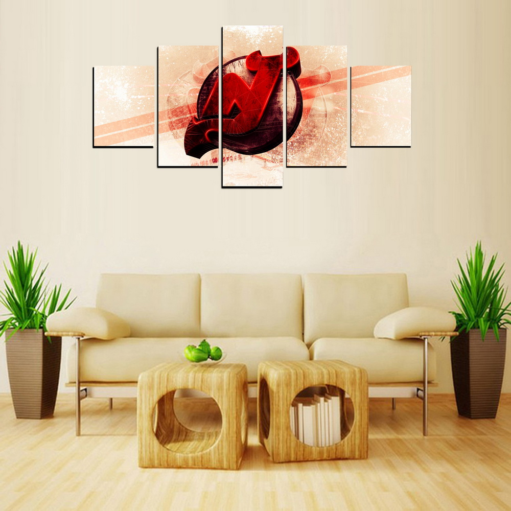 MailingArt FIV  5 Panels Abstract Design Wall Art Painting Home Decor Canvas Print