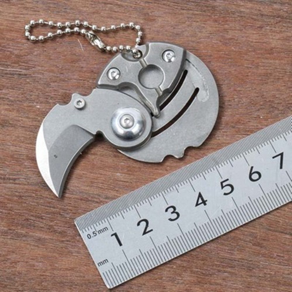 Portable Coin Folding Knife Keychain EDC Outdoor Survival Tools