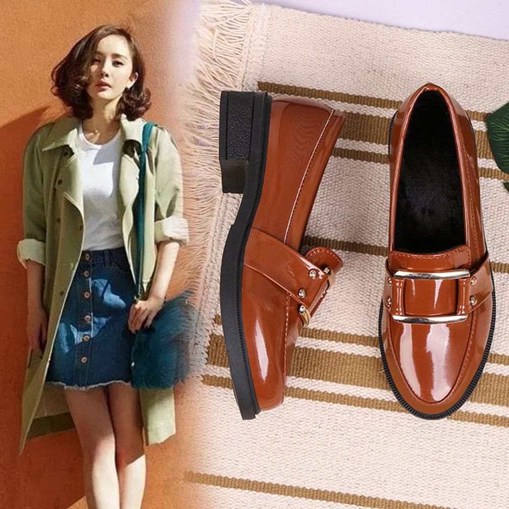 Spring Section of Thick Casual Comfort Lace Style School Shoes