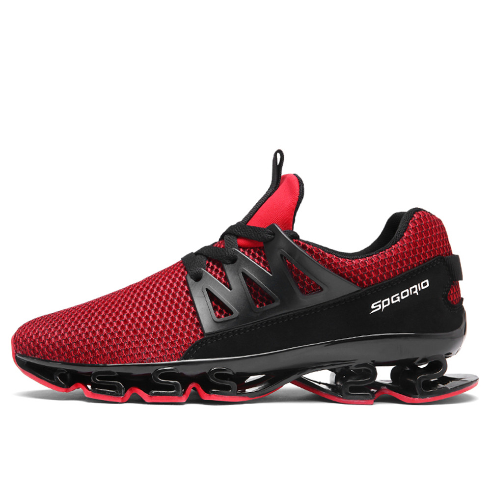 58843500f45e0 ZEACAVA Men Fashion Sneakers Spring Blade Sole Sport Running Shoes
