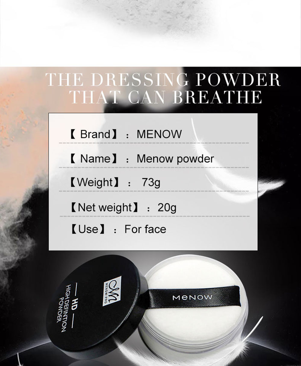 Menow Oil-control Anti-sweat Breathable Concealer Powder Lasting Up to 24 Hours