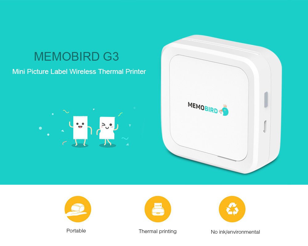 MEMOBIRD G3 Mini Picture Label Wireless Thermal Printer