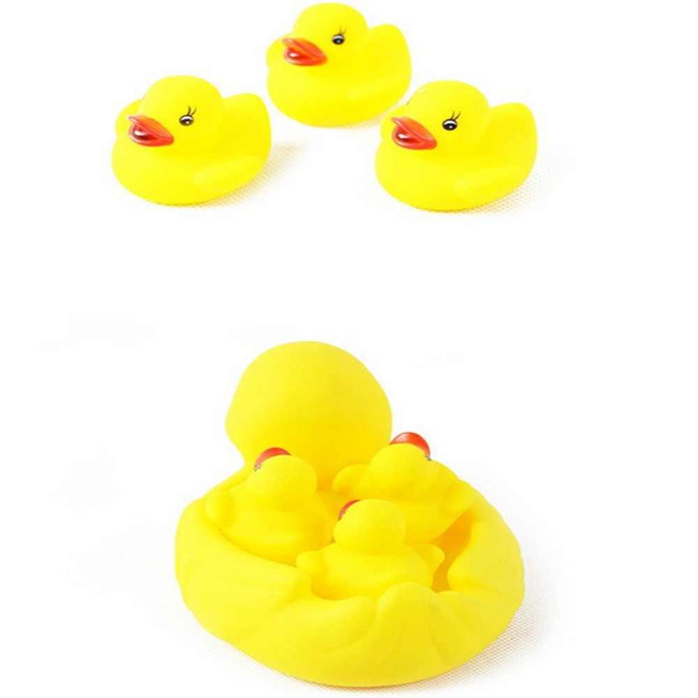 Hot Water Bath Swimming Duck Yellow Baby Bath Squeeze Audiometry ...