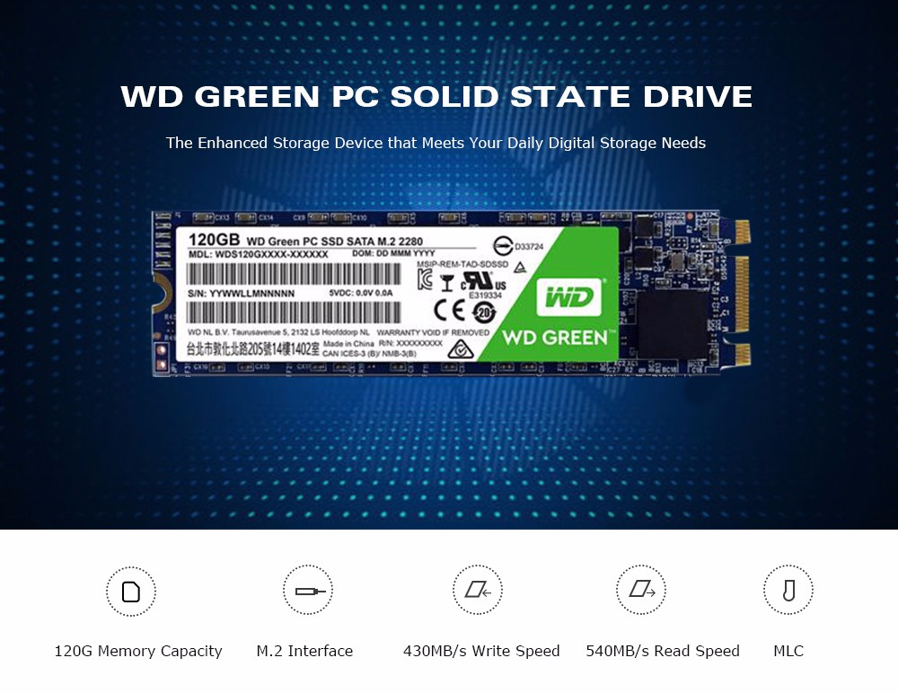 48 With Coupon For Wd Green Pc Solid State Drive 120g