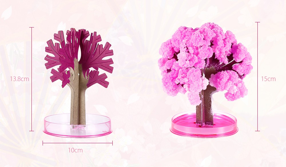 Arts & Crafts, Diy Toys Novelty Diy Paper Cherry Blossom Tree Artificial Magic Sakura Tree Cherry Blossom Kids Educational Toys Gift
