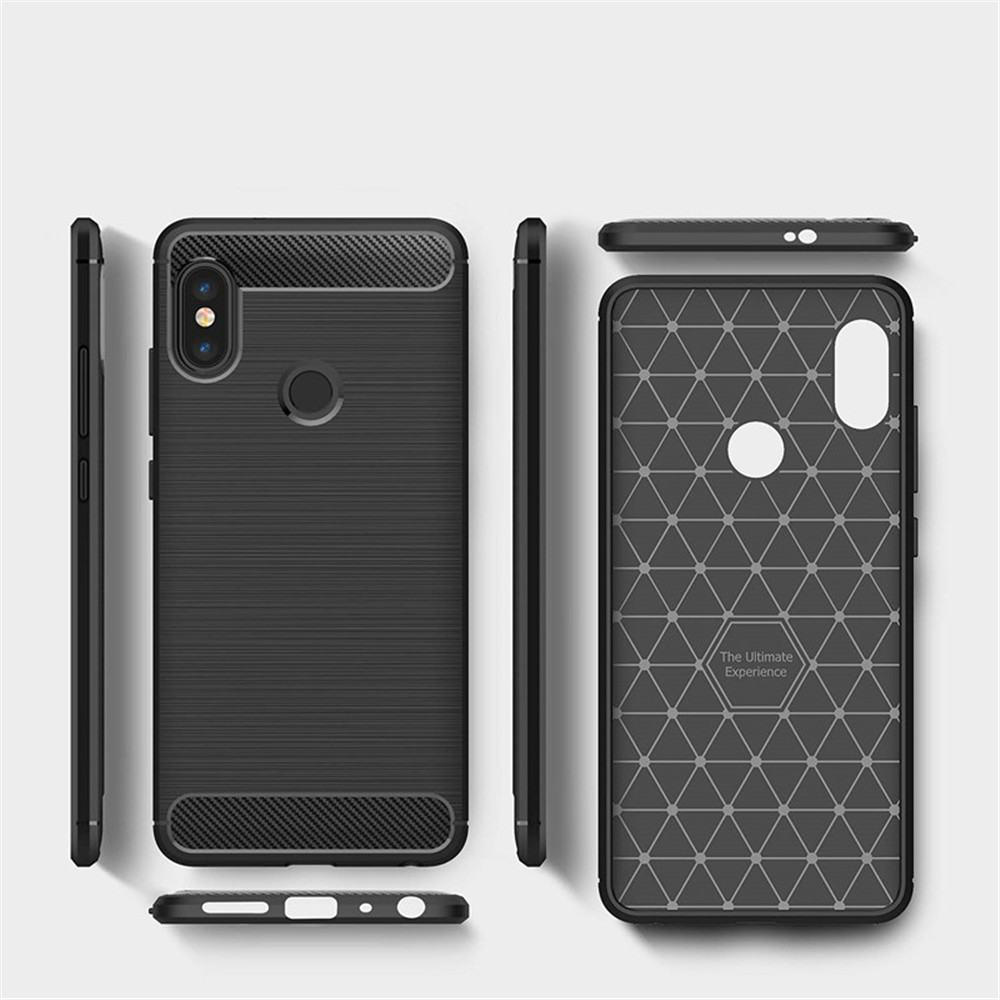 check out 61fcd 00b9a Case for Redmi Note 5 Pro Shockproof Back Cover Solid Color Soft Carbon  fiber