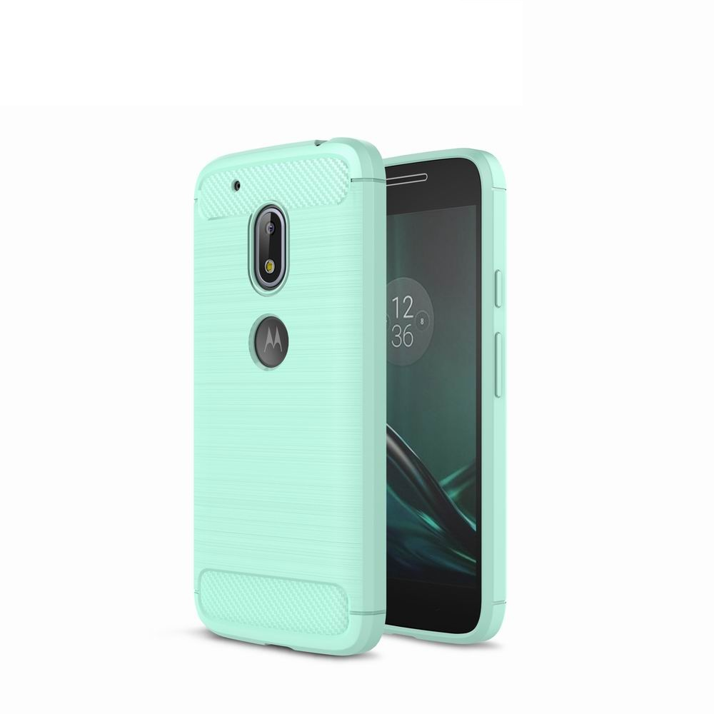 brand new bab11 af7a4 For Motorola Moto G4 Play Case Cover Carbon Fiber Luxury Silicone Soft  Texture Back Phone Cases