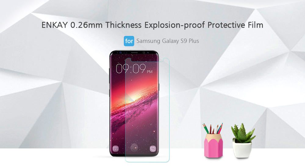 ENKAY 0.26mm Thickness Explosion-proof Protective Film for Samsung Galaxy S9 Plus 10pcs