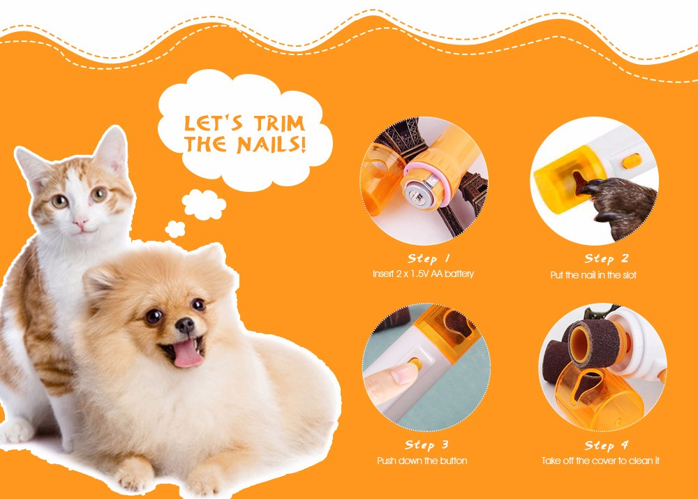 Electric Pet Nail Grinder - $3.52 Free Shipping GearBest.com