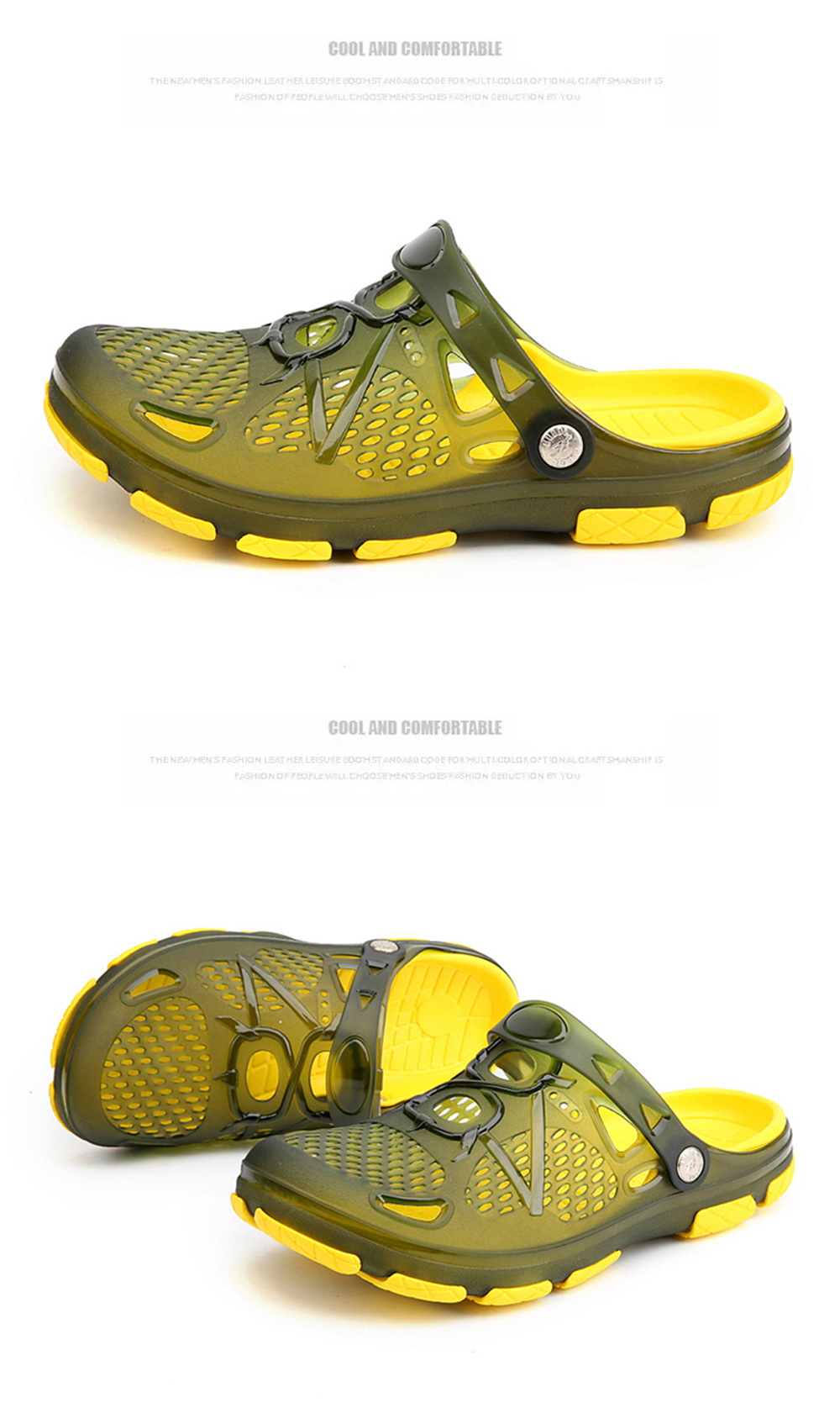 Casual Breathable Simple Style Sandals For Men