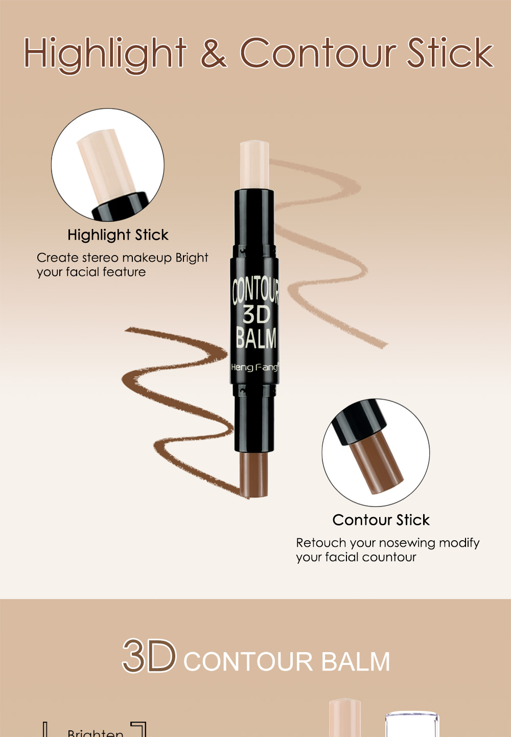 HengFang H8449 Highlighter Concealer Bronzer 3 Colors