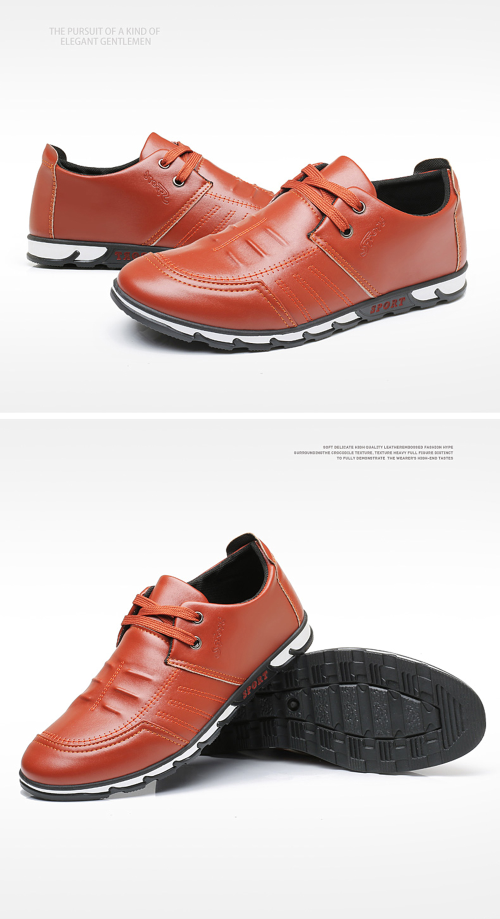 Fashion Simple Style Breathable Formal Shoes For Men