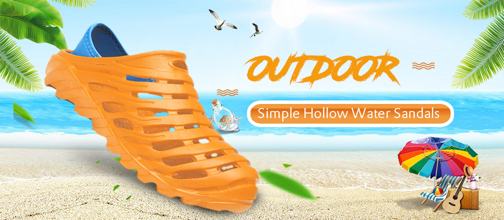 Outdoor Simple Hollow Water Sandals for Men