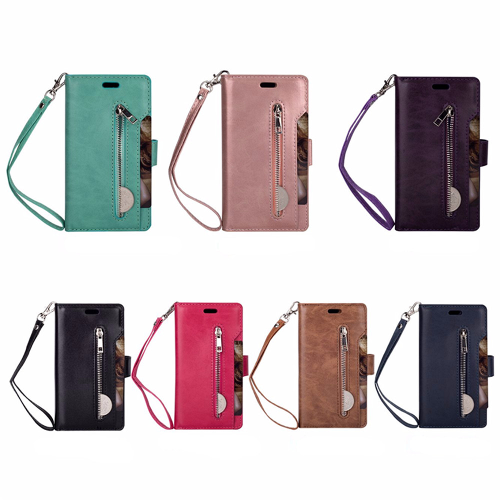 For Samsung Galaxy S9 Plus Case PU Leather Wallet Case Cover Card Slot Holster Cell Phones Bag with Case
