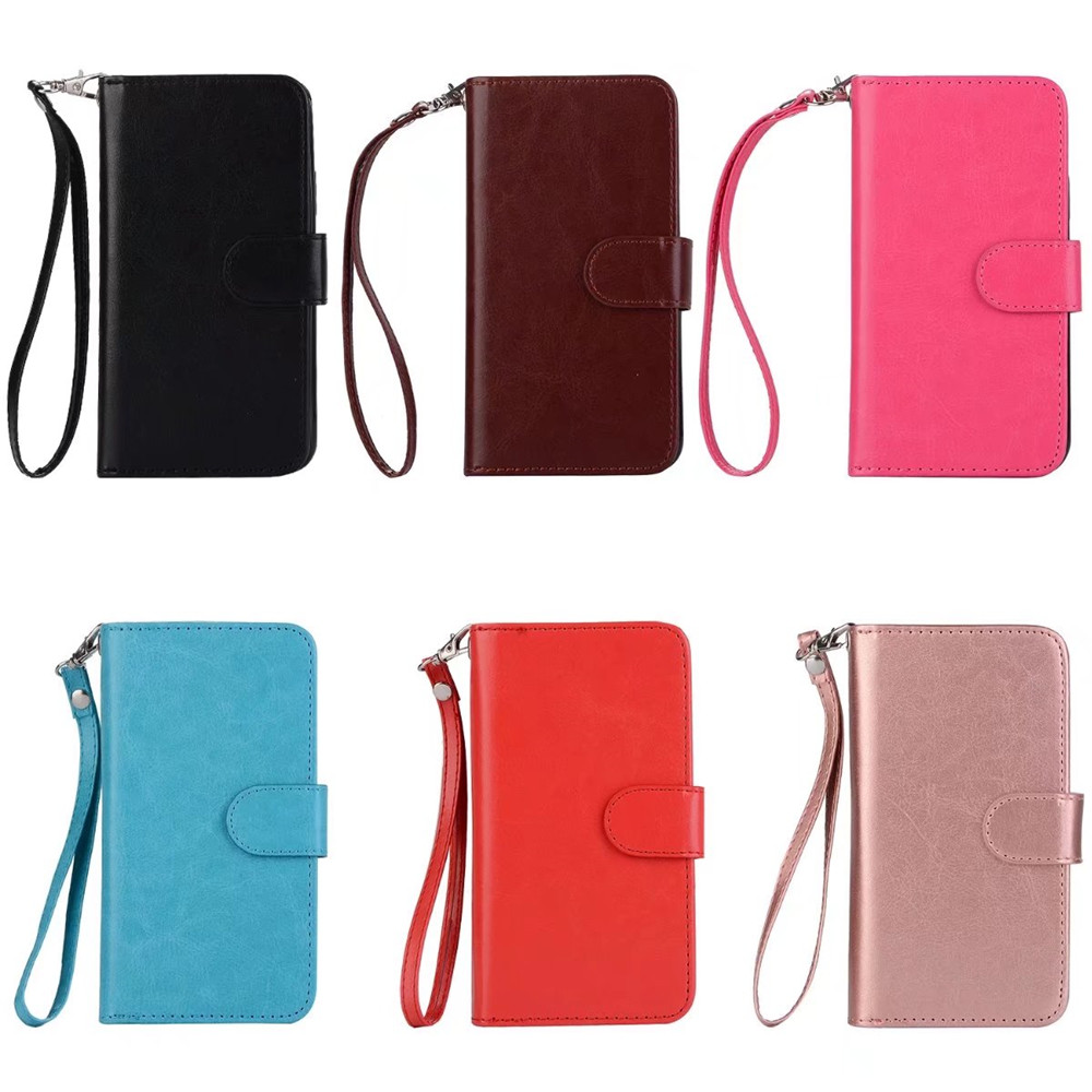 For Samsung Galaxy S9 Plus Case Retro 9 Card Slots Purse Leather Wallet Case Removable Cover