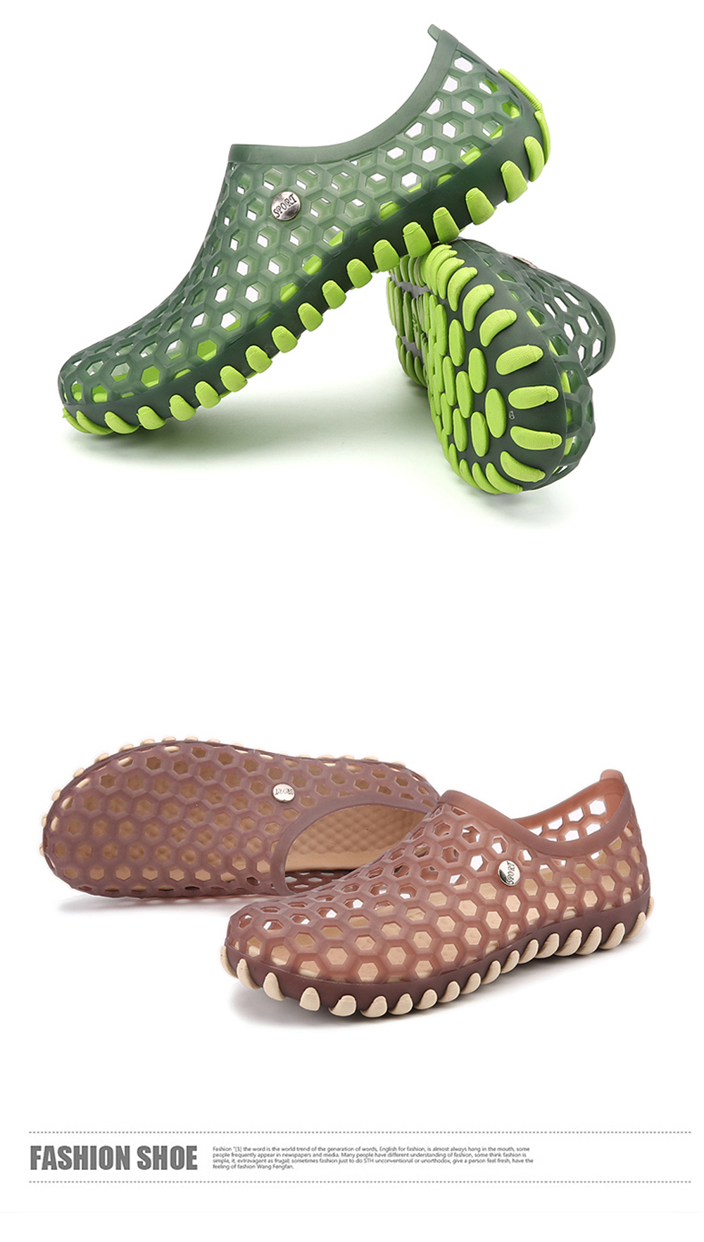 Hollow Fashion Outdoor Walking Slippers