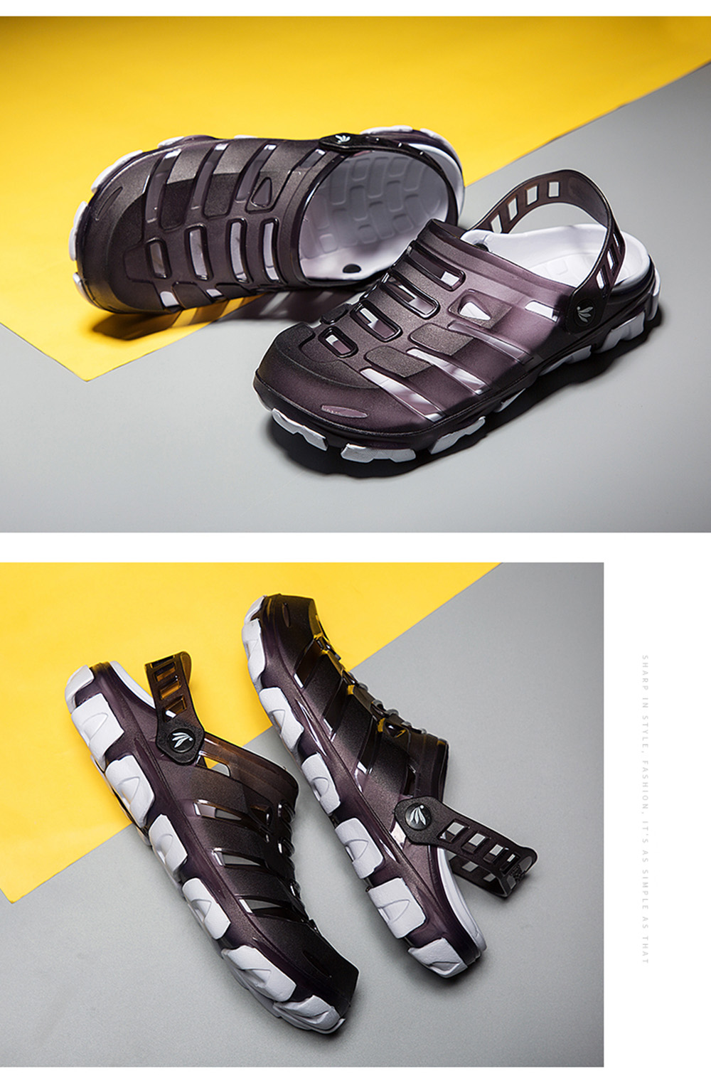 Fashion Outdoor Walking Jelly Slippers for Men