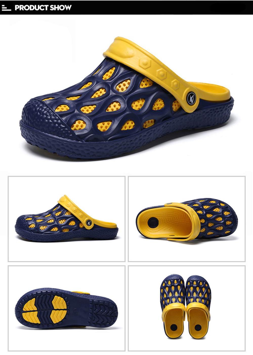 Ventilated Comfortable Hollow Out Men's Slippers