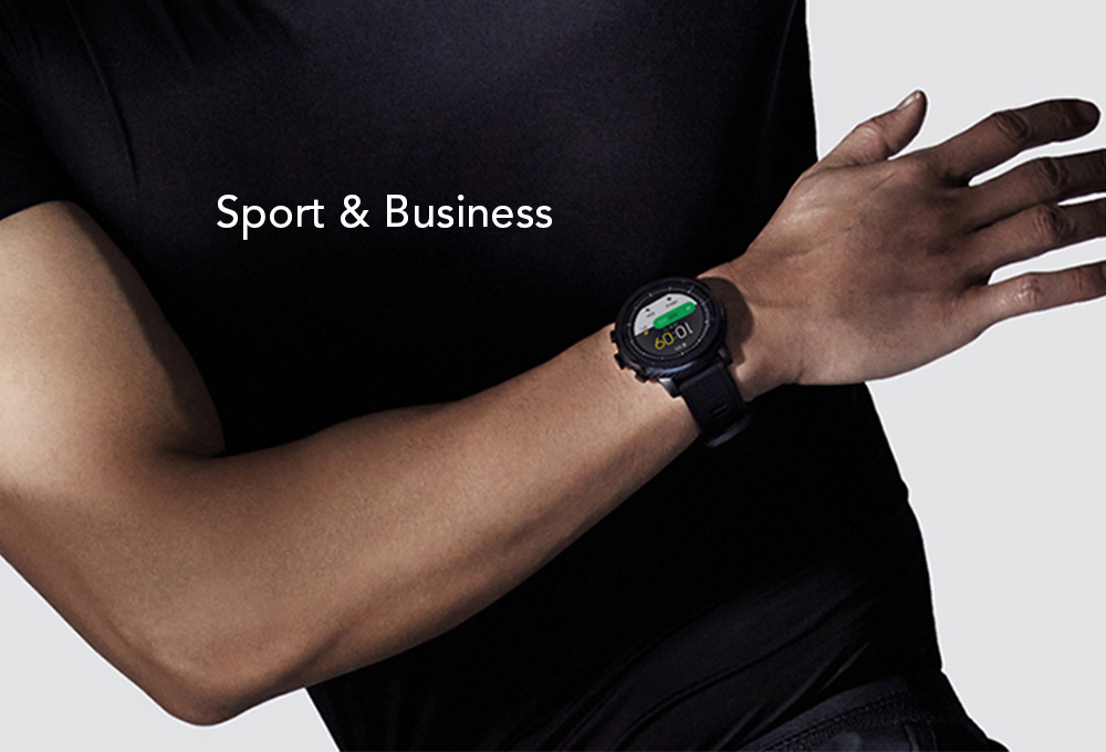 Original Amazfit Stratos / Pace 2 Smartwatch Running Watch GPS Xiaomi Chip Bluetooth 4.2- Black