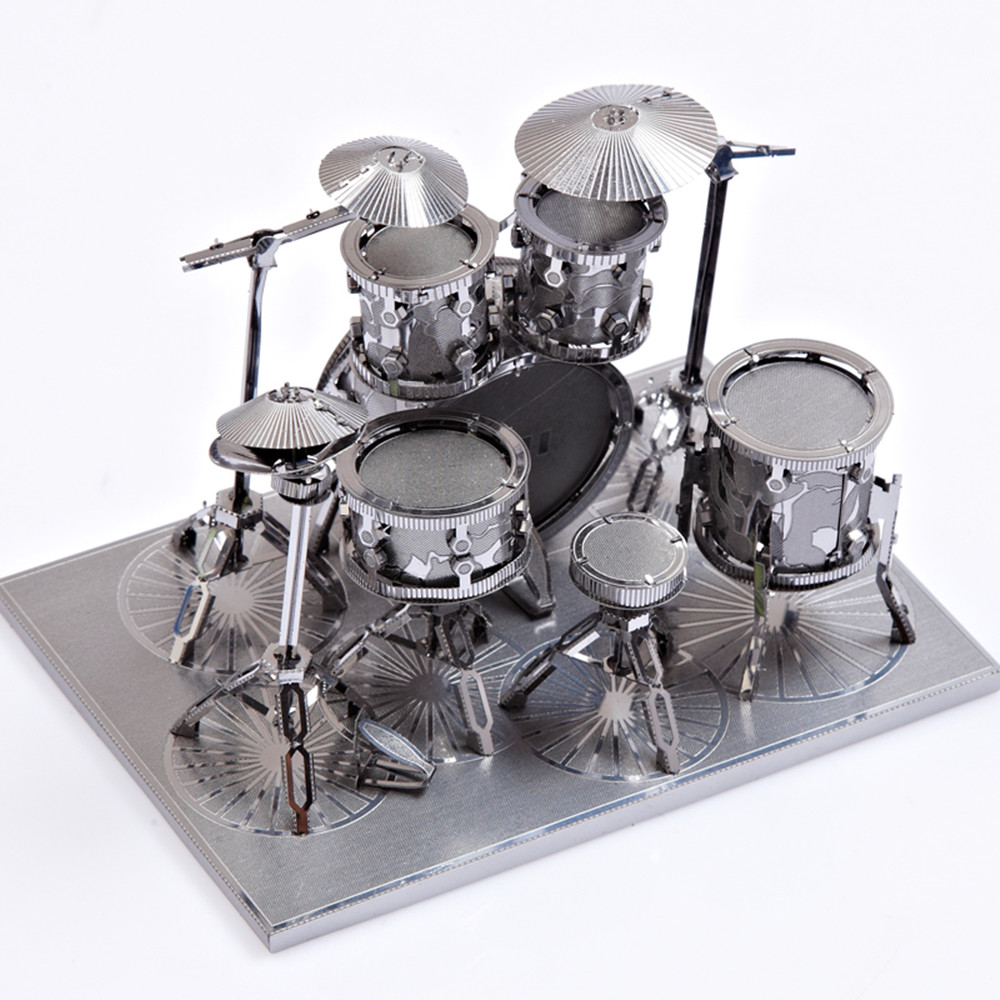 Creative Drum Set 3D Metal High-quality DIY Laser Cut Puzzles Jigsaw Model Toy