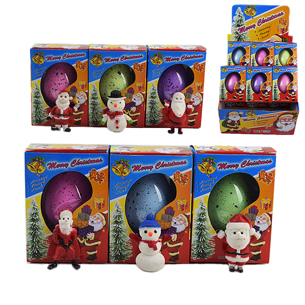 Christmas Egg Novelty Growing Water Hatching Magic Children Kids Toy