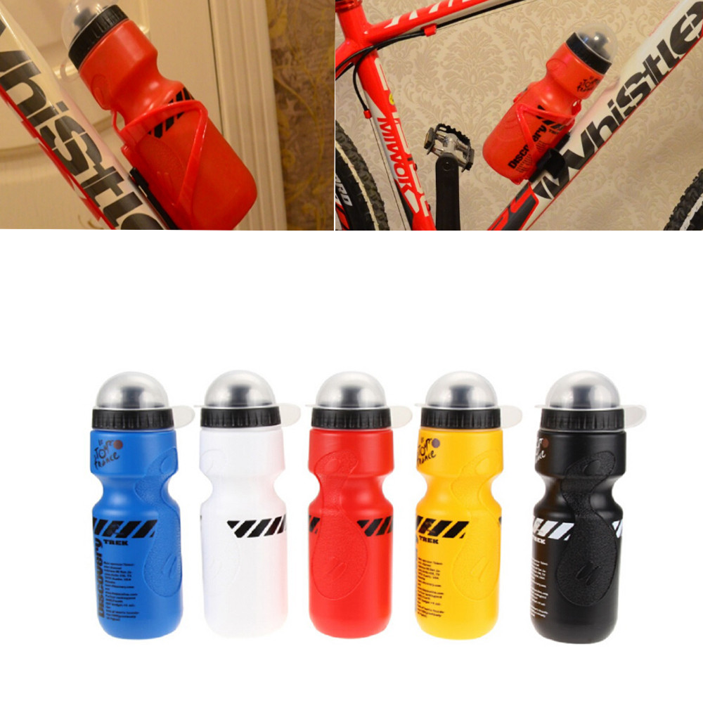 Portable Plastic Outdoor 650ML Mountain Bike Bicycle Cycling Sports Water Bottle