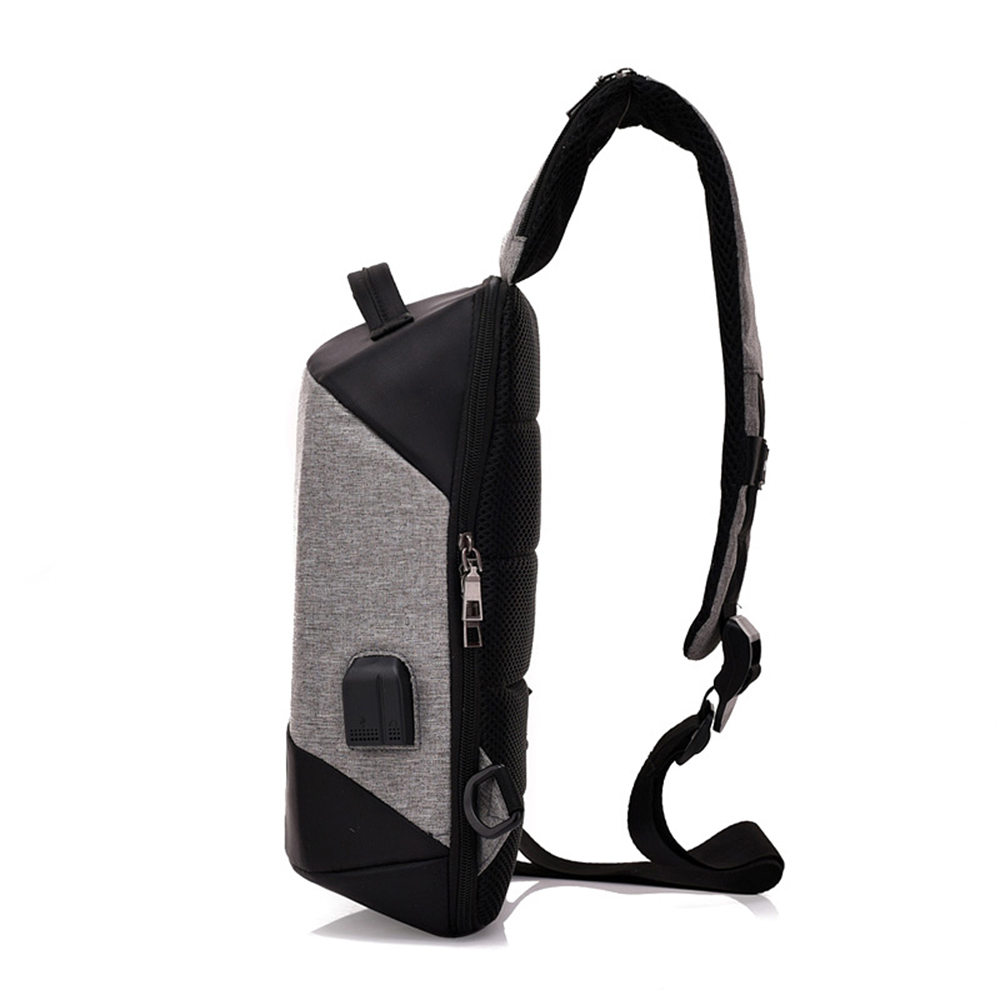 Anti-Theft Chest USB Charging Korean Shoulder Messenger Bag