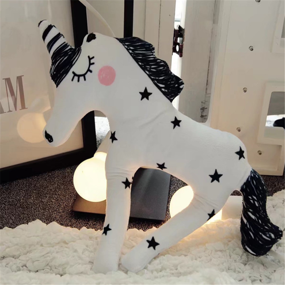 Unicorn Style Decorative Pillow Plush Toy