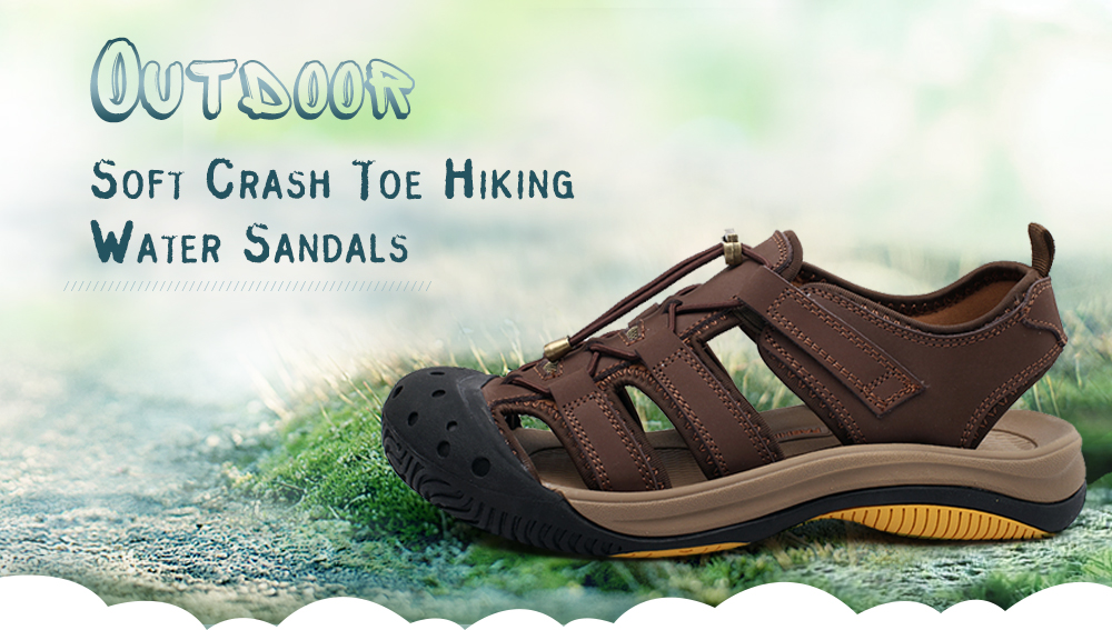 Outdoor Soft Crash Toe Hiking Water Sandals for Men