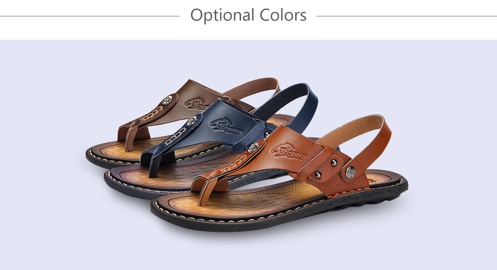 Summer Casual Dual-use PU Leather Sandals Slippers for Men
