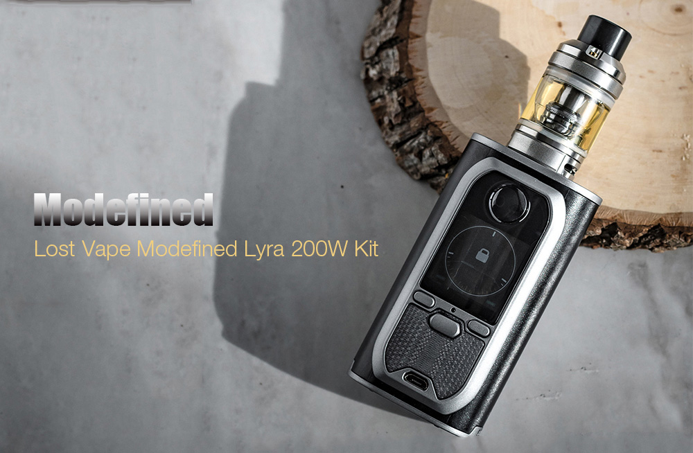 Modefined Lost Vape Modefined Lyra 200W Kit with 200 - 600F / 0.1 - 3 ohm for E Cigarette