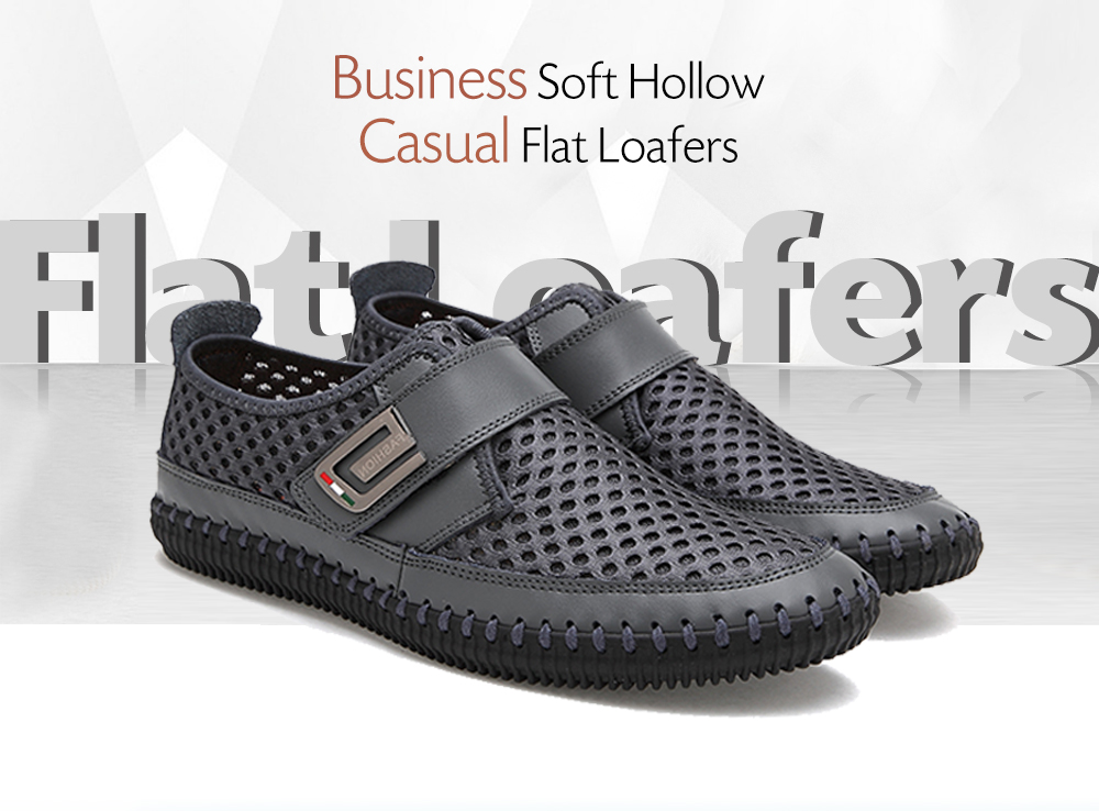 Business Soft Hollow Casual Flat Loafers for Men