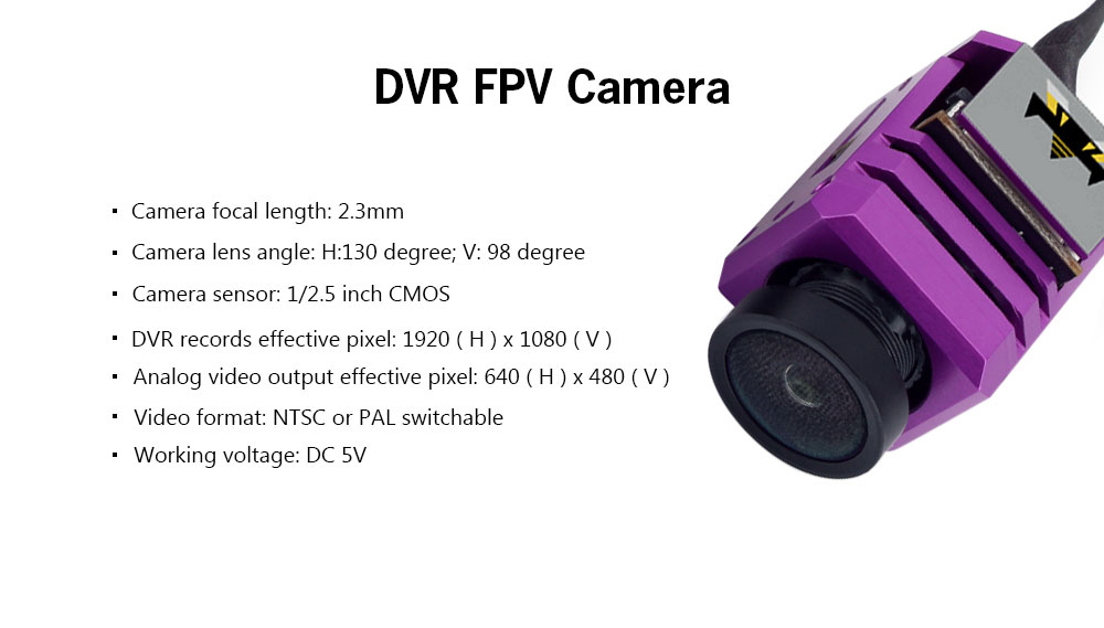 F4 Flight Controller + 1080P DVR FPV Camera
