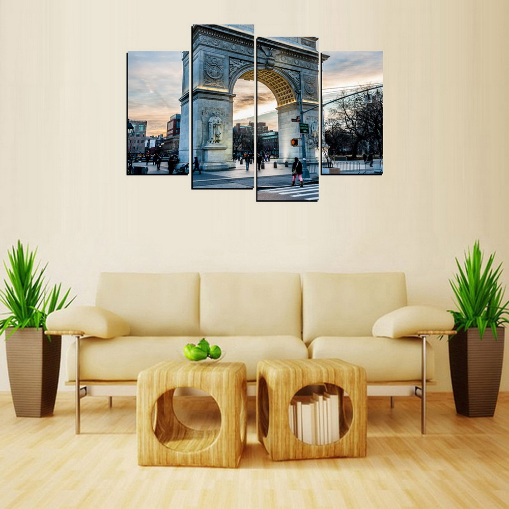 MailingArt FIV655  4 Panels Landscape Wall Art Painting Home Decor Canvas Print