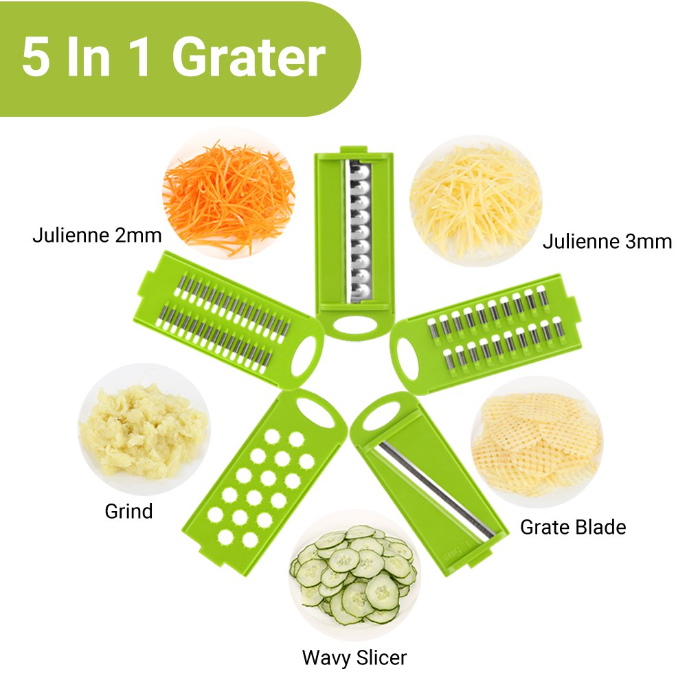 zanmini ZVC05 Vegetable Grater Manual Cutter