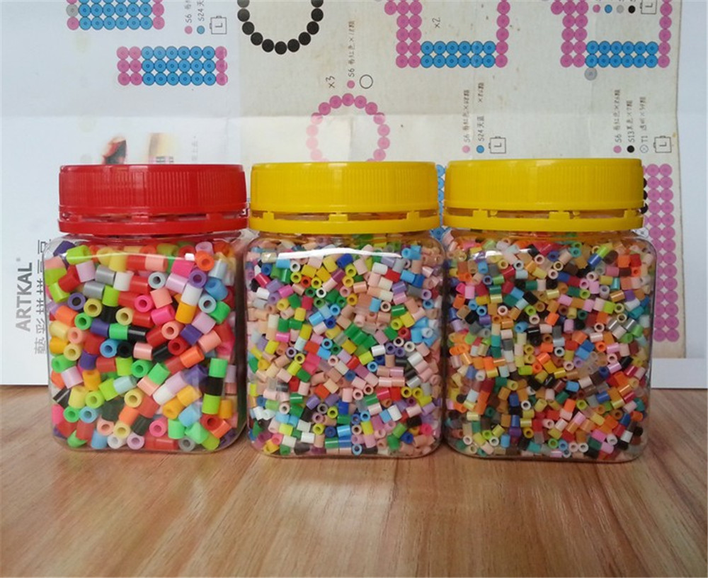 5MM Fuse Beads Mixed Colors DIY Educational Kits Great Fun 1200PCS