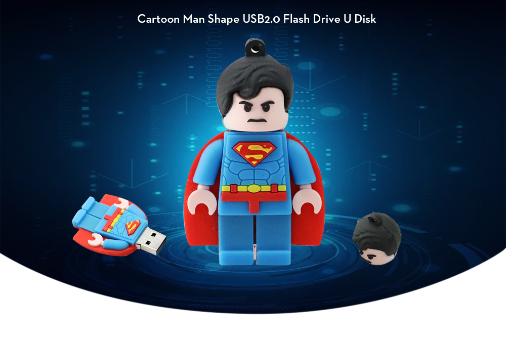 Portable Cartoon Man Shape USB2.0 Flash Drive U Disk
