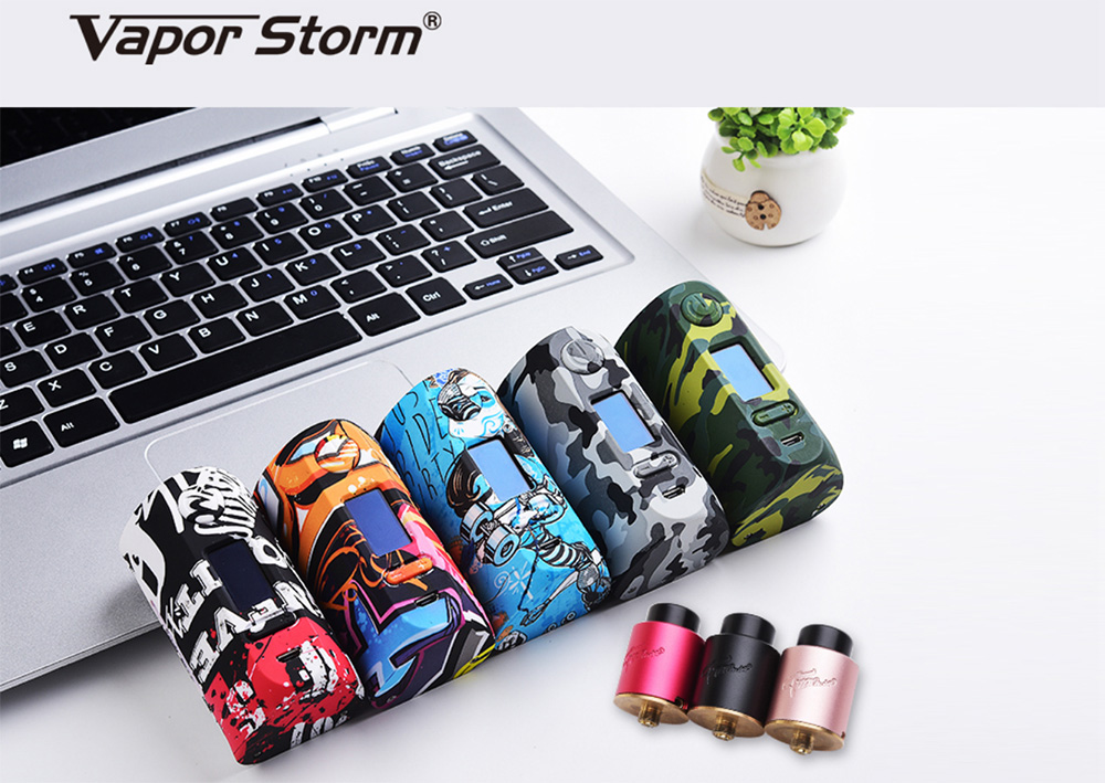 Vapor Storm Puma 200W Mod Kit with 0.06 - 3 ohm / Supporting 2pcs 18650 Batteries for E Cigarette- Gray