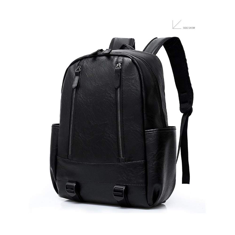 Preppy Style Leather School Backpack Bag For College Simple Design Men  Casual Daypacks Mochila Male New af883919c944b