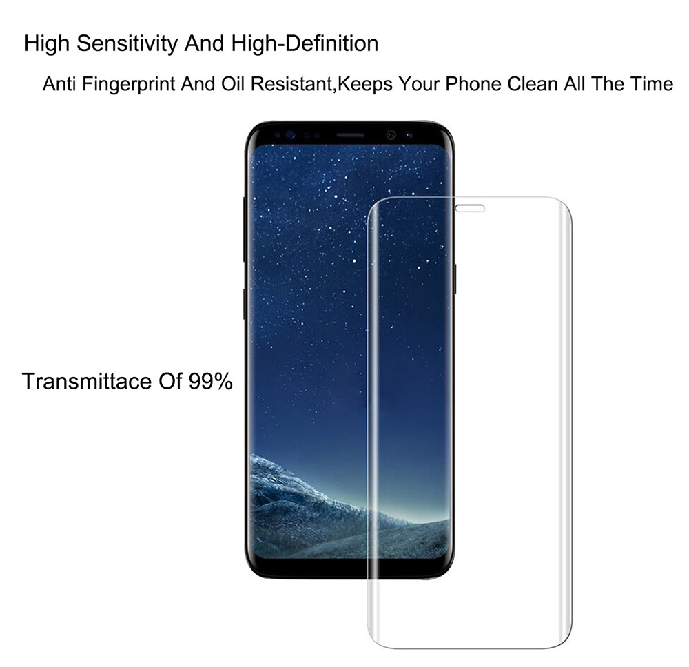 Tempered Glass for Samsung Galaxy S9 Full Body Screen Protector 3D Arc Edge- Transparent
