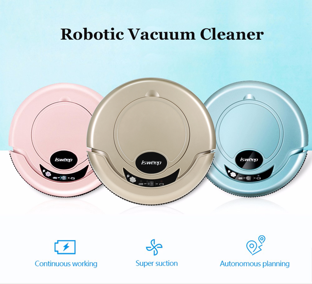 S320 Robotic Vacuum Cleaner with Mopping Cloth - Golden EU Plug