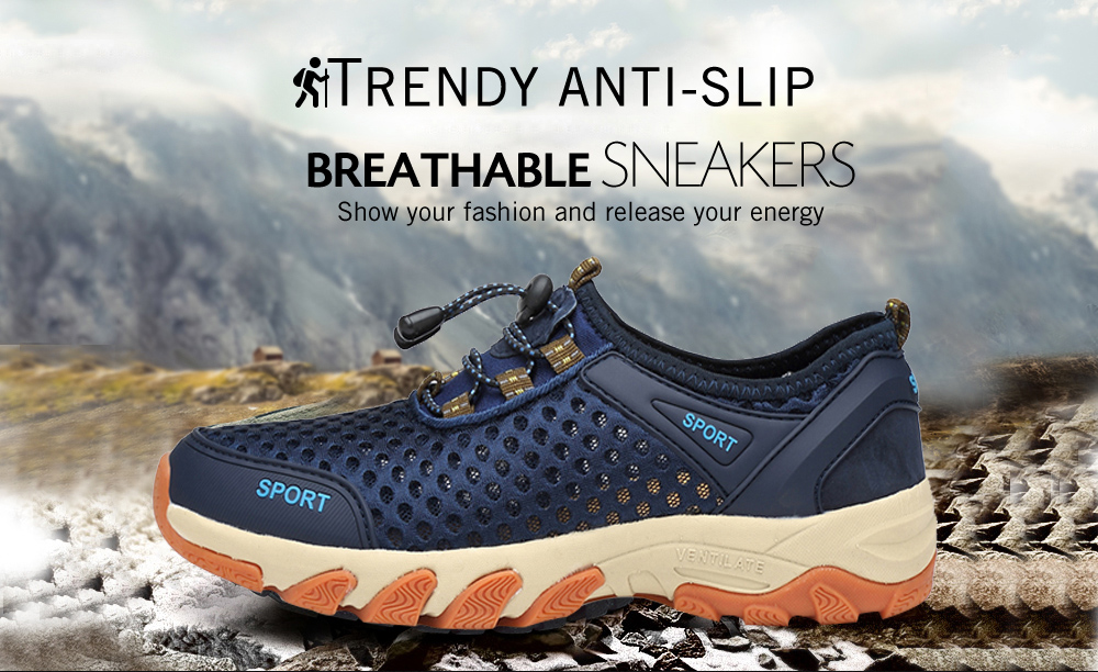 Outdoor Trendy Anti-slip Breathable Sneakers for Men