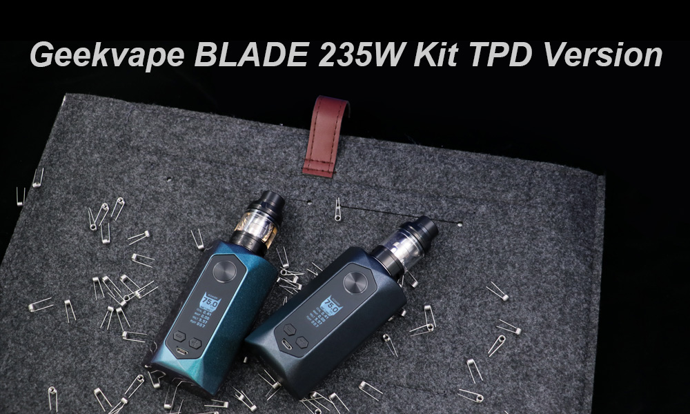 Geekvape BLADE 235W Kit TPD Version with 200 - 600F / 0.1 - 0.4 ohm for E Cigarette