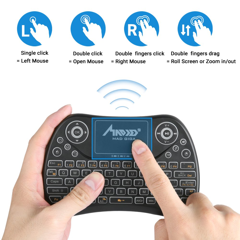 Madgiga T2 Mini Wireless Ergonomic Wave Design Keyboard