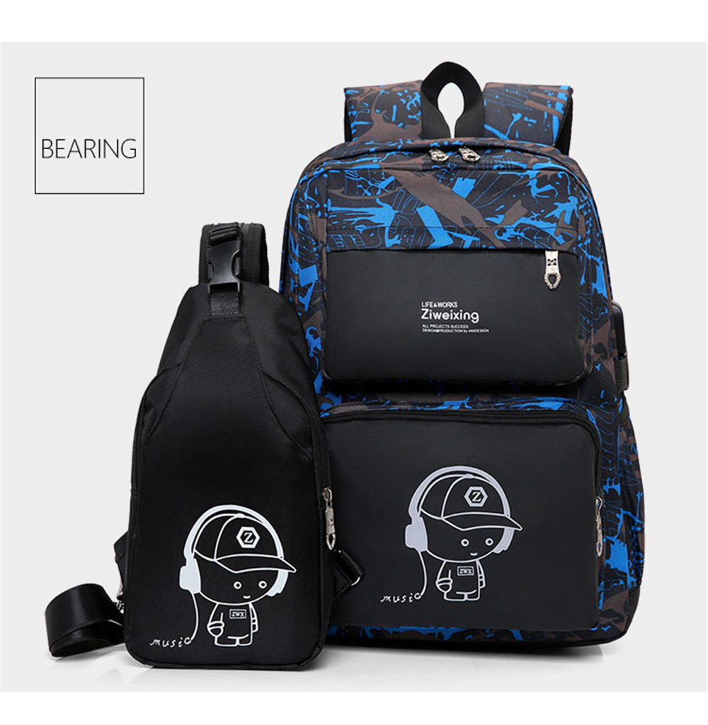 Men Backpacks Luminous Printing Women Backbag High Quality School Bags For Teenage  Girls Cute Bookbags Mochila 5105681a62
