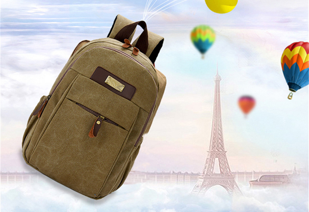 Large Capacity Simple Wild Outdoor Canvas Travel Backpack Tide