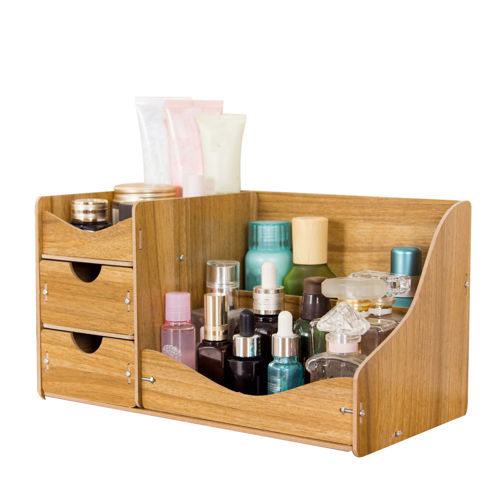 Hecare Jewelry Container Home Storage Wooden Box Handmade Diy Assembly Case Organizadores Wood Desk Makeup Organizer New Sale Price Reviews Gearbest