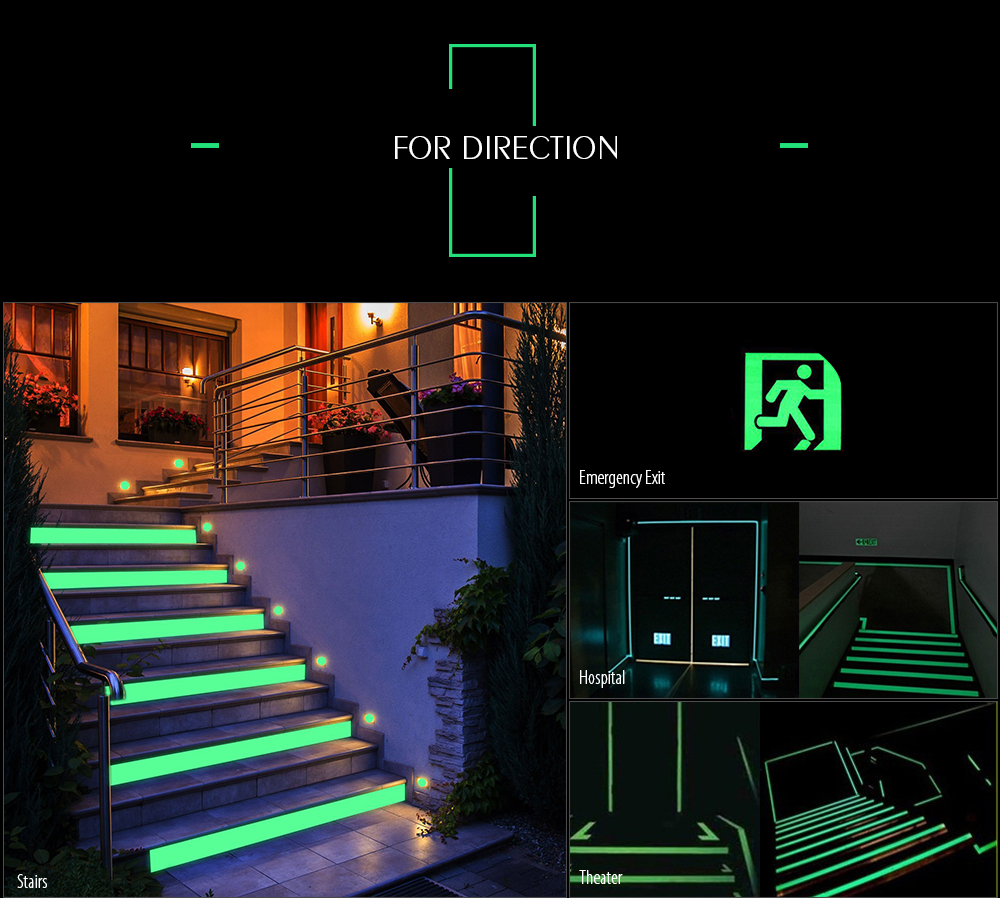 Luminous Tape Self Adhesive Wall Sticker 3m Length 505 Free Illuminated Circuit Board Coffee Table Is Geek Diy Chic Decor Safety Warning Security Decoration White